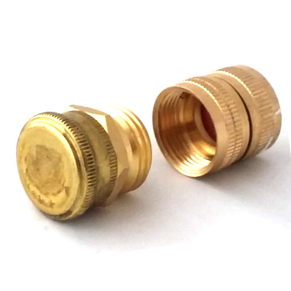 Brass Hose Adapter Fitting Set With Cap